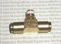 1/4 to 1/8 Brass Tee Ends Tube Center Male Pipe Fitting Qty (1)