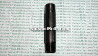 3/8 x 3 Black Pipe Long Nipple Qty (1)