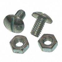 Slotted Truss Head License Plate Screw with Hex Nut (Qty) 100