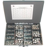Nylon Lock Nut Assortment - 940 pieces USS & SAE