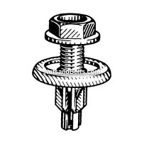Honda Screw Rivet, M20 Head X M15 Long Qty (10)