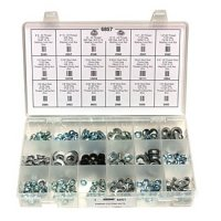 Auveco Thread Cutting And Washer Lock Nut Assortment - 227 Pieces