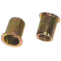 5/16 - 18 Yellow/Zinc Steel Ribbed Rivet Nuts Qty (1)