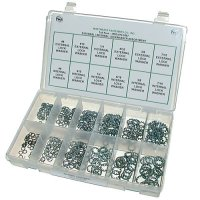 External / Internal Lock Washer Assortment - 450 pieces