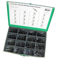 Auveco Black Nylon Blind Rivet Assortment - 400 Pieces