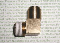 1/2 to 1/2 Brass 90D Elbow Tube to Male Pipe Fitting Qty (1)