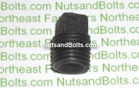 1/4 Black Pipe Square Plug Qty (1)