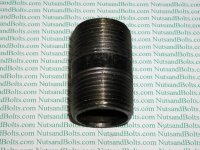 "1"" x 2 Black Pipe Long Nipple Qty (1)"