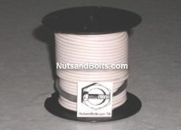 100' White 16 Gauge Primary Wire Qty (1)