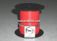 100' Red 18 Gauge Primary Wire Qty (1)