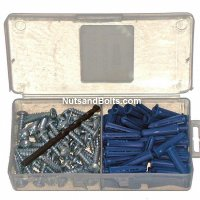 Plastic Wall Anchor Kit #14-16 Screw Size