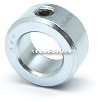 1/4 Inch Set Screw Shaft Collar Zinc Qty (10)