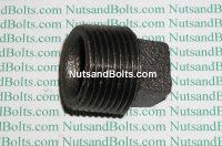 3/4 Black Pipe Square Plug Qty (1)