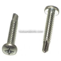 #10 - 1 Phillips Pan Head Self Drilling Tek Screws Qty (1)