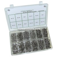 Stainless Steel Phillips Pan Tapping Screw Assortment - 480 pieces