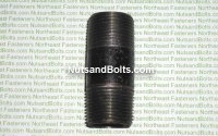 "1"" x 3 Black Pipe Long Nipple Qty (1)"