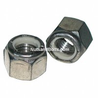 5/16 - 18 Stainless Nylon Lock Nuts Qty 50)