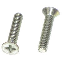 1/4-20 x 1 1/2 Phillips Flat Head Machine Screws Qty (50)