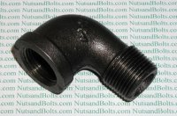 3/4 Black Pipe 90D Street Elbow Qty (1)