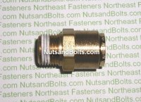 1/2 to 3/8 Brass Connector Tube to Male Pipe Fitting Qty (1)