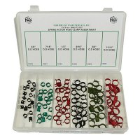 Spring Action Hose Clamp Assortment - 120 Pieces