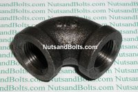 3/8 Black Pipe 90D Elbow Qty (1)