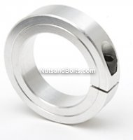 2 Single Split Aluminum Shaft Collar Qty (1)