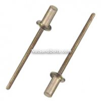 3/16 x 1/4 Aluminum / Steel Closed End Blind Rivets Qty (25)