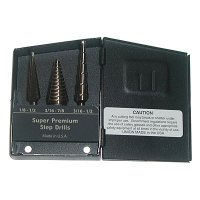 Step Drill Set - 3 Piece - Ultra Bit Super Premium - Multi Diam