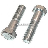 7/16 - 14 X 4 1/2 Grade 5 Hex Bolts (Hex Head Cap Screws) Qty (5)