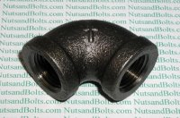 1/2 Black Pipe 90D Elbow Qty (1)