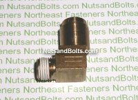 1/4 to 1/8 Brass 90D Elbow Tube to Male Pipe Fitting Qty (1)
