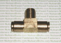 3/8 Push To Connect Brass Union Tee Pipe Fitting Qty (1)