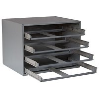 4 Drawer Metal Storage Rack For Large Compartment Boxes