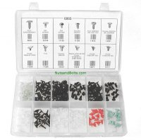 Auveco Weatherstrip Retainer Assortment - 245 Pieces