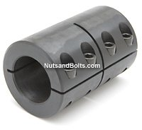 15 x 15 Metric Single Split Shaft Coupling No Keyway Qty (1)