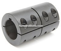25 x 25 Metric Single Split Shaft Coupling With Keyway Qty (1)