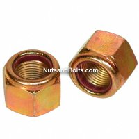 9/16-18 Nylon Lock Nuts Grade 8 Fine Qty (25)