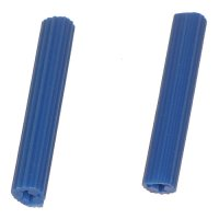 #14 - 1/4 inch Plastic Plug Wall Anchors (Blue) Qty (100)
