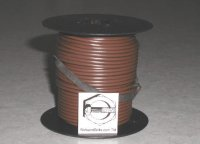 100' Brown 16 Gauge Primary Wire Qty (1)