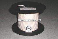 100' White 10 Gauge Primary Wire Qty (1)