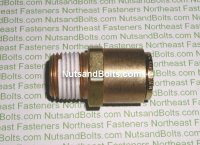 5/8 to 1/2 Brass Connector Tube to Male Pipe Fitting Qty (1)