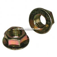 1/2-13 Flange Nut Locking Grade G Coarse Yellow/Zinc Qty (50)