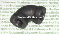 1/4 Black Pipe 90D Elbow Qty (1)