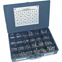Stainless Nut, Bolt and Washer Assortment - 825 Pieces