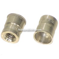 1/4 - 20 Ribbed Aluminum Thread-Sert Threaded Repair Inserts Qty (10)