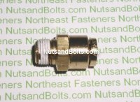 1/4 to 1/8 Brass Connector Tube to Male Pipe Fitting Qty (1)