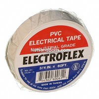 Color Coding Tape / PVC Electrical Tape - WHITE - Qty (1 roll)