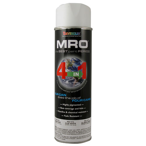 Flat White MRO Industrial Enamel Spray Paint - Seymour 620-1412 - Click Image to Close
