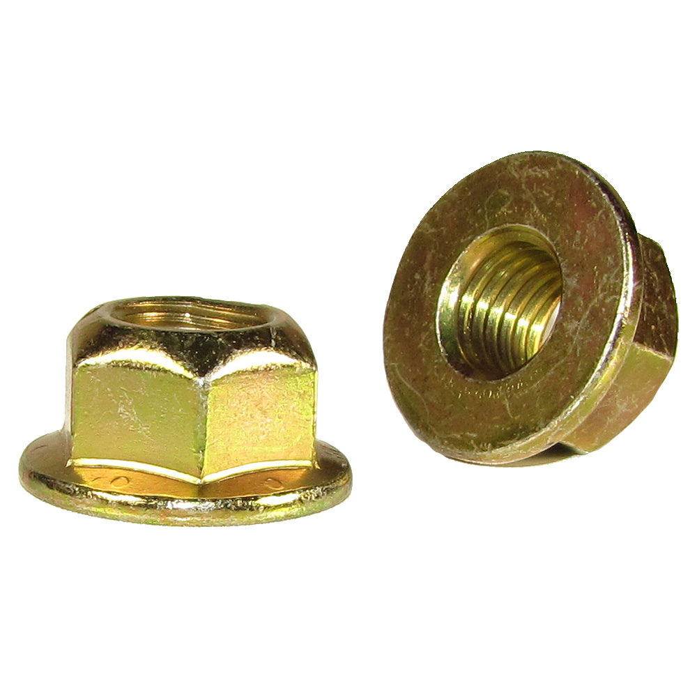 3 5//8-11x2-1//2 Grade 8 Hex Flange Bolts /& 5//8-11 Flange Lock Nuts Yellow 3